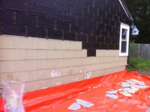 Asbestos Remediation siding